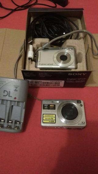 Camera Sony Dsc S650 + Sony Dsc W110 + Carregador De Pilhas