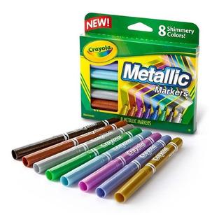 Marcadores Metalicos Crayola Plumones Dibujar Pintar Colores