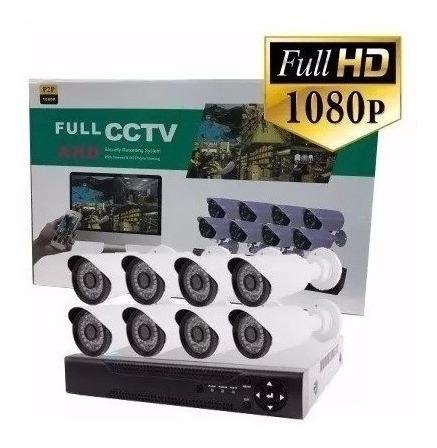 Imagen 1 de 3 de Kit Seguridad Cctv Dvr 4ch Full Hd 1080p 8 Camaras *tienda*