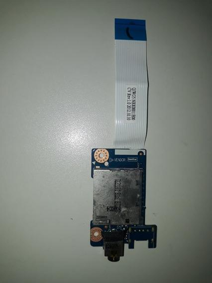 Placa De Audio Som Leitor Cartão Sd Notebook Lenovo G480