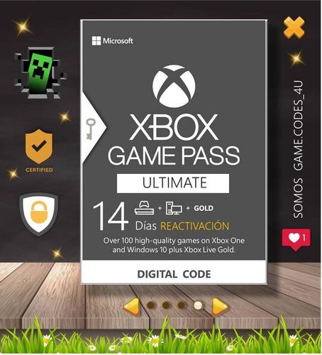 Game Pass Ultimate 14 Dias | Xbox One | Sx | 360 | Pr 3