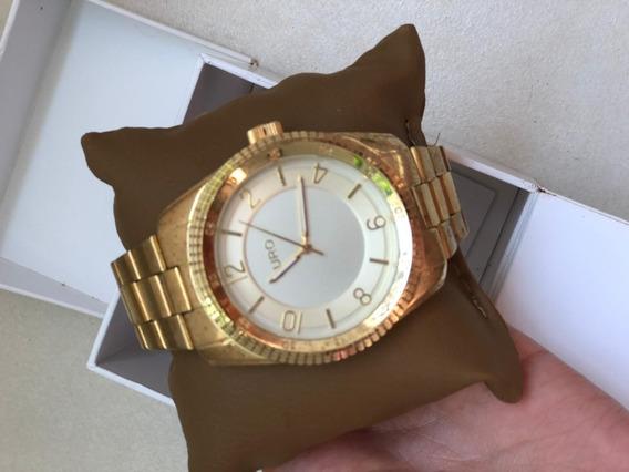 Relógio Original Euro Dourado Na Caixa