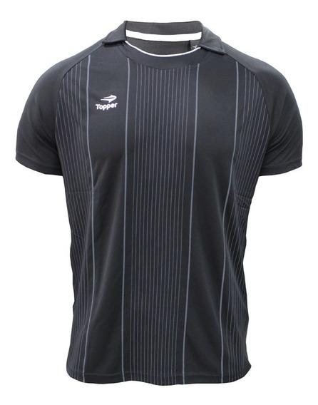 Camisa Polo Topper Futebol Stripes Ii Masculina