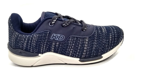 Tênis Infantil Kidy Style Marinho/azul Jeans 3262