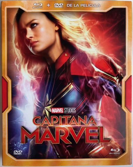 Capitana Marvel Pelicula Marvel Studios Blu-ray+dvd