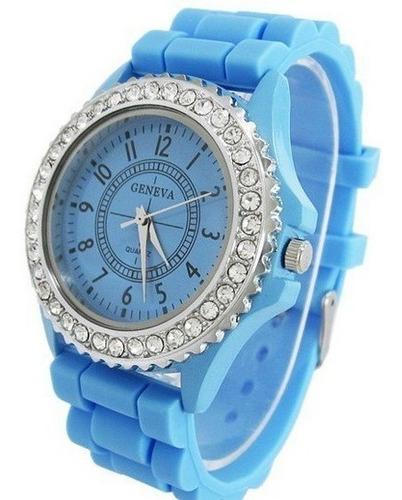 Reloj Pulsera Geneva Lindo Hermoso Femenino Mujer