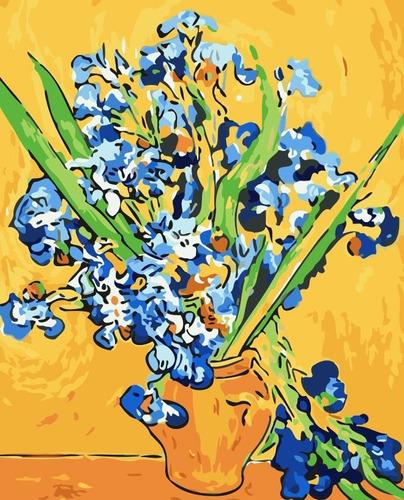 Pintura Numerada Vaso De Iris -  Coleção Van Gogh_p2