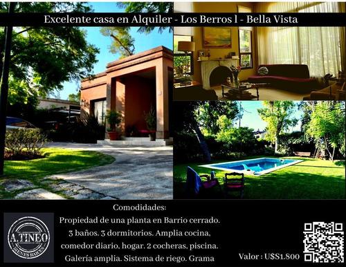 Imagen 1 de 10 de Casa En Venta/alquiler - Country Bella Vista - Bs.as