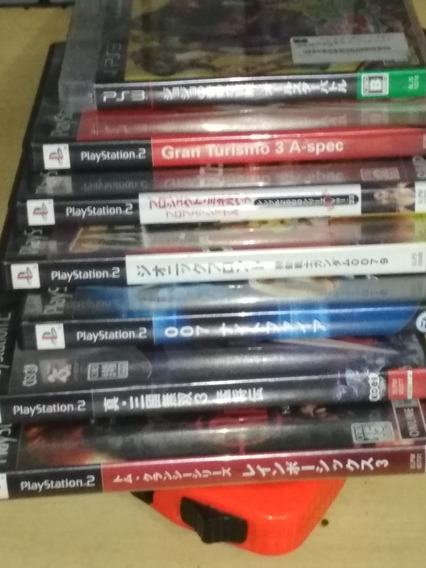 Lot De Jogos Ps2 Ps3 Completos Original Japoneses