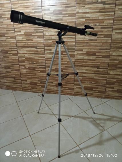Telescópio Azimutal Com Tripé,acessórios 900x60mm Tele-90060