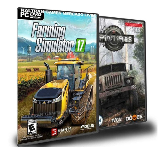 Farming Simulator 17 + Mods E Spintires Of Road - Pc