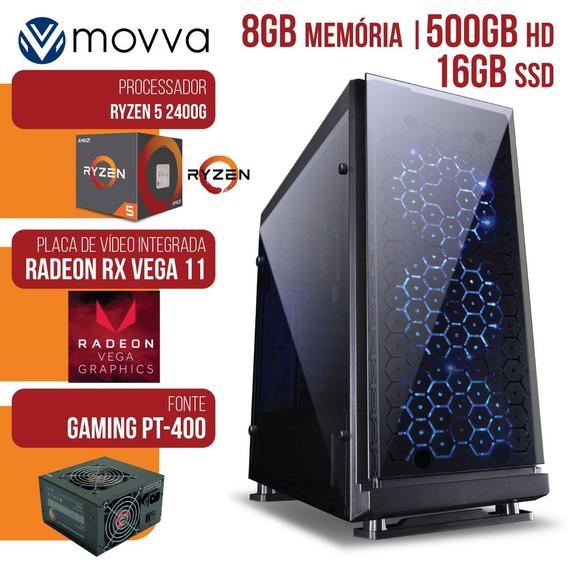 Computador Gamer Amd Ryzen 5 2400g 3.6ghzmem. 8gb Hd 500gb