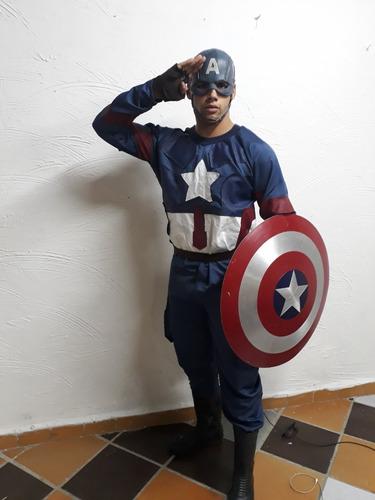Imagem 1 de 2 de Personagem Vivo Animação Festa Infantil Capitão América