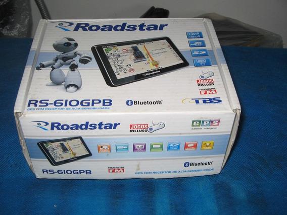 Gps Roadstar Rs-610gpb Na Caixa Em Perfeito Estado