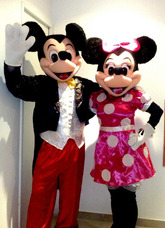 Alquiler Disfraz Mickey Minnie Sapo Pepe Pepa Kitty Sheriff
