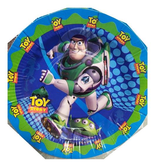 Toy Story Buzz Ligthyear Paq 100 Platos Pasteleros Disney Fi