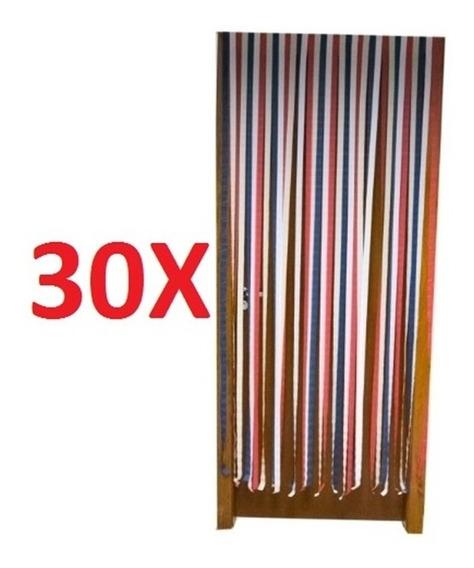 Kit 30 Cortina Para Porta Anti Inseto Tela Protecao Mosquito