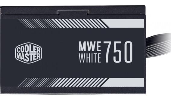 Fonte Cooler Master 750w 80 Plus White Pfc Ativo Mpe-7501