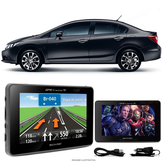 Navegador Gps Automotivo Honda Civic New Tela 4.3 Touch Voz