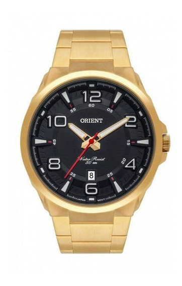 Relogio Quartz Dourado Masculino Orient Mgss1177 P2kx
