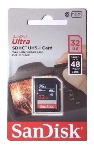 Cartão De Memoria Sd Ultra 32gb Sdhc 48 Mb/s Camera Original