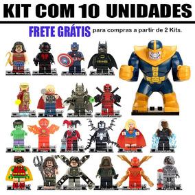 Kit 10 Bonecos Super Herois Marvel Guerra Infinita Star Wars