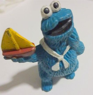 Cookie Monster De Goma Barco Marinero Plaza Sesamo Muppet