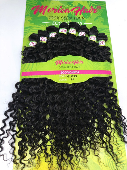 Cabelo 100%organico Cacheado Gloss-merica Hair 300grs 1pct