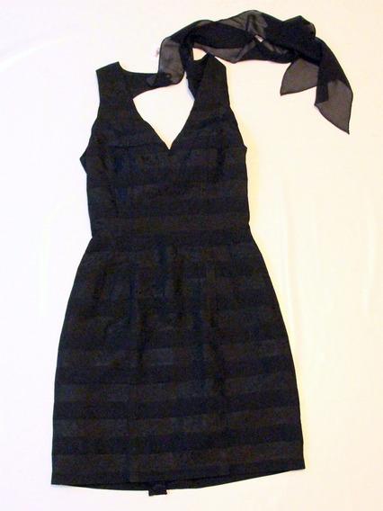 Vestido Negro Escote Espalda Increible - Envios