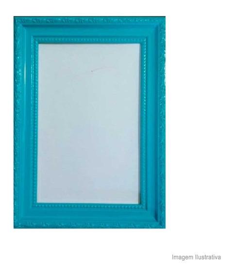Porta Retrato 15x21cm Queem Azul Turquesa Brilhante Infinity Infinity