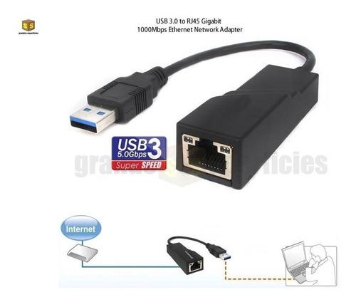 Adaptador Convertidor Usb 3.0 Lan Rj45 Ethernet Gigabit @gs