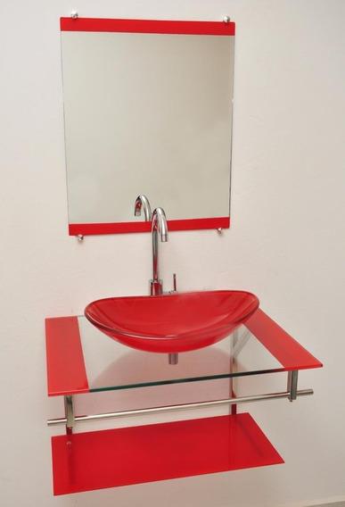 Gabinete De Vidro Com Espelho 40x40 Cm