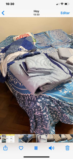 Juego Cama Sommier King Size Serta Sabanas Cover Quilt Lote