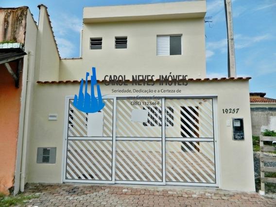3784- Sobrado Lado Praia 2 Dormitórios 365 Metros Do Mar