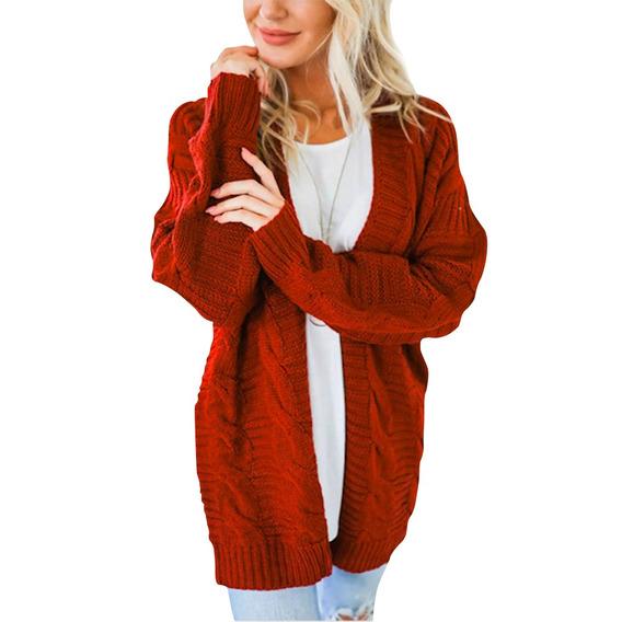 Suéter Largo De Invierno Abrigo De Punto De Mujer