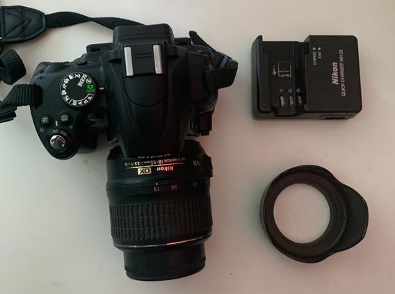 Camera Nikon D5000 + Lente + Bolsa Nikon - Em Otimo Estado