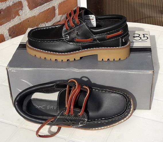 Liquido Lote X7par Zapato Cuero Nautico Leñador Nuevo Sinuso