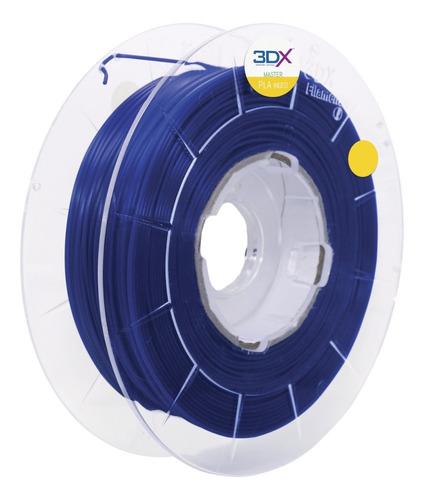 Filamento Pla Azul Escuro Metal 500g 1,75mm 3dx