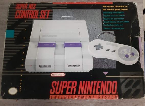 Super Nintendo - Caixa Original + 3 Fitas