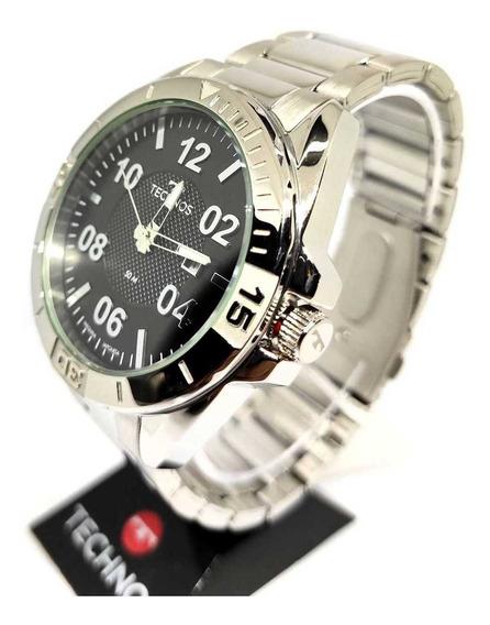 Relógio Technos Masculino Todo Em Aço Originall 2117lbm/1p