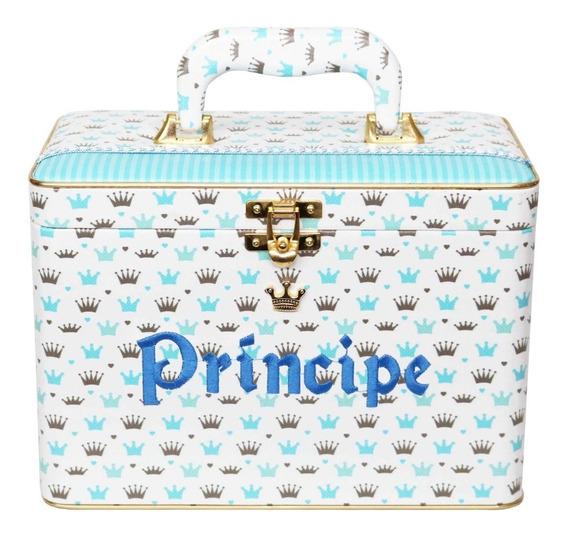 Álbum Box Bebê Príncipe Menino Azul 200 Fotos 15x21 Diário