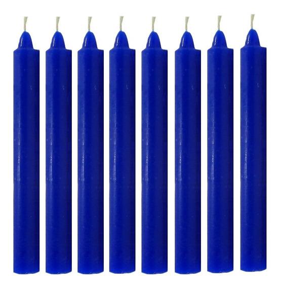 Vela Quilo Palito Colorida Azul 1 Kg 28 Velas Coloridas