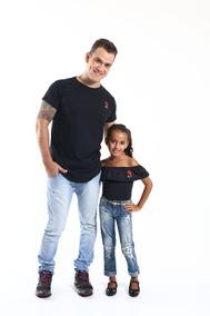 Kit Tal Pai Tal Filha Camiseta Long + Body Infantil