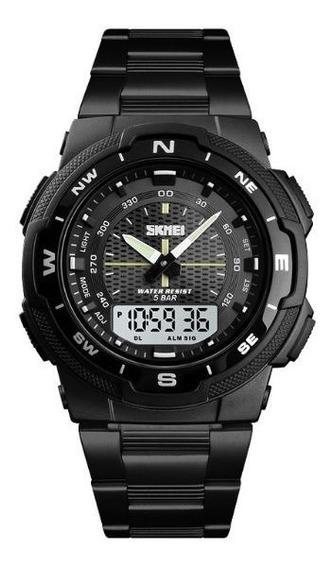Reloj Skmei Digital Y Análogico Deportivo Casual Acero 1370