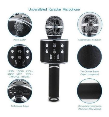 Microfono Karaoke Bluetooth Parlante Efecto Titan Belgrano