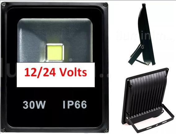 Luminária Led Refletor Holofote 30w/ 12v/24v Uso Solar