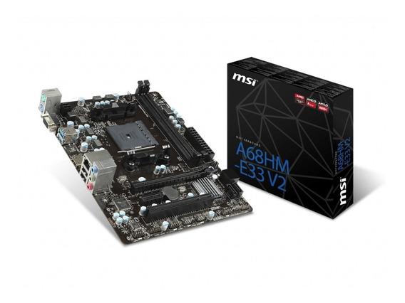 Motherboard Msi A68hm-e33 V2 Amd Fm2+ Hdmi M-atx