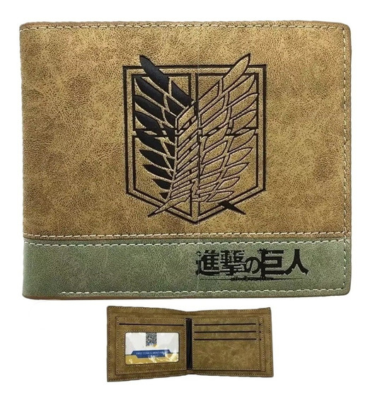 Cartera Attack On Titan Envio Gratis Shingeki No Billetera