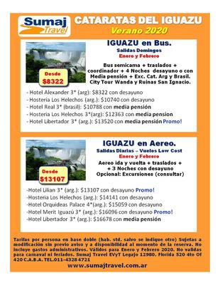 Cataratas Del Iguazu Paquetes En Bus Y Aereo Low Cost Verano