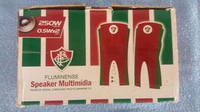 Kit Caixa De Som E Mouse Pad Do Fluminense- Raridade!